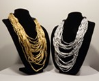"Brittany Britton's ""A Measure of Something"" adds gold and silver to traditional dentalia necklaces."