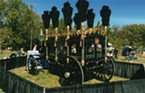 In May of 2015, the Blue Ox veteran's build team traveled to Springfield, Illinois, for five days of speeches, festivities and a parade commemorating the 150th anniversary of President Abraham Lincoln's funeral. The hearse was decked out with eight dramatic black plumes made of ostrich feathers and pulled by a team of six horses. In the future, the Hollenbecks will continue working to provide a transitional space at Blue Ox for newly returned veterans. Viviana is writing proposals and searching for funding for three new, culturally significant building projects for the vets to take on —  a 1947 Woody Wagon, a 1912 San Francisco Trolley Car and railroad stops for the Sacramento Railway museum.