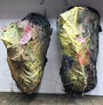 "Lori Goodman's handmade paper installation ""Huts,"" 2017."