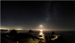 North Coast Night Lights: A Trail to the Moonset
