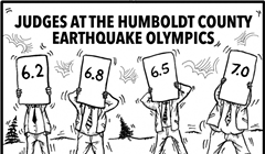 Judges at the Humboldt County Earthquake Olympics