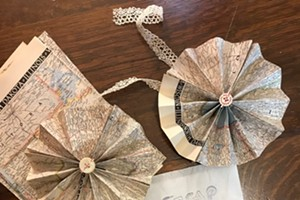 Folded Paper Garland & Ornaments