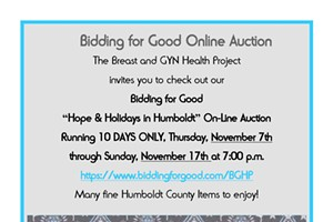 Hope & Holidays in Humboldt On-Line Auction