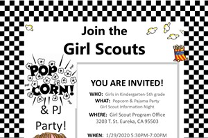 Girl Scouts Pajama and Popcorn Party