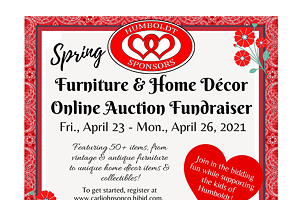 Humboldt Sponsors Spring Furniture & Home Décor Online Auction Fundraiser