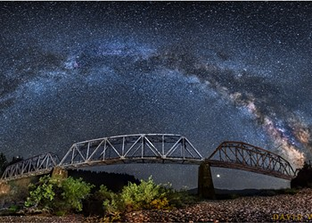 North Coast Night Lights: South Fork Bridge, July 2018