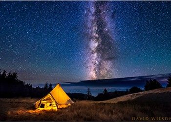 North Coast Night Lights: Camping in the King Range