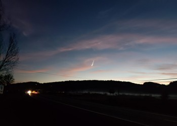 Mysterious Light in the Sky and Smoke Trail Likely a Meteor