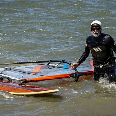 Windsurfing in Humboldt Bay
