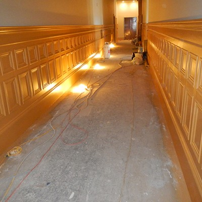 Carson Block Building Restoration - The Stairwell and Hallway
