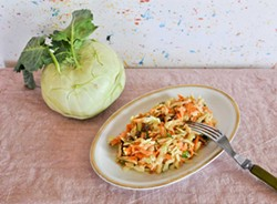 PHOTO BY SIMONA CARINI - Well, hello, kohlrabi slaw.