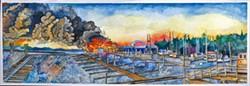"Elaina Erola's ""Chinook Cannery Fire 1994"""