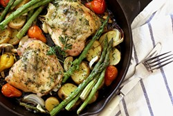 PHOTO BY MALINA SYVORAVONG - Brined, herbed chicken worth planning ahead for.