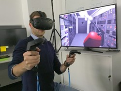 PHOTO BY THE EUROPEAN SPACE AGENCY - The European Space Agency is experimenting with computer-generated virtual reality for controlling planetary rovers and satellites in orbit.