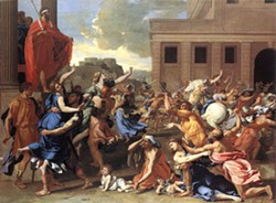 NICOLAS POUSSIN, 1635 - The Abduction of the Sabine Women