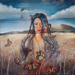 "PHOTO BY GABRIELLE GOPINATH - Nani Chacon, ""Missing,"" oil on canvas."