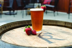 DREW HYLAND - Rosie's strawberry wheat ale