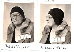 PHOTO COURTESY OF HUMBOLDT HISTORICAL SOCIETY - Bettie White's mug shot
