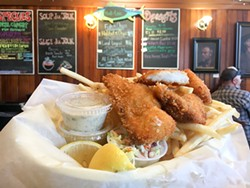 PHOTO BY JENNIFER FUMIKO CAHILL - The Scrimshaw's catch at Arcata Pizza and Deli.