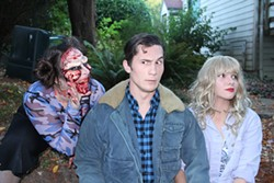 SUBMITTED - A gory Elizabeth Whittemore with William English III and Shawn Wagner in HSU's Evil Dead: The Musical.