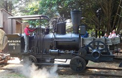 COURTESY OF THE TIMBER HERITAGE ASSOCIATION - Bear Harbor Lumber Company #1 under steam at Fort Humboldt.