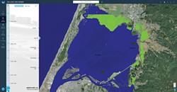 COAST.NOAA.GOV - A scenario for Humboldt Bay from NOAA's interactive Sea Level Rise Viewer.