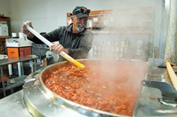 PHOTO BY MARK MCKENNA - Owner Tom Pagano at the Tomaso's Specialty Foods facility in Blue Lake.