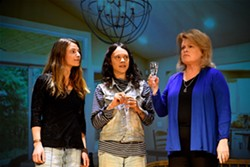 Photo by Agnes Patak- Pictured: Tanya Lynne, Yarrow Danaeus, Marcia Mendels in 'An Intervention, Celestial Style'
