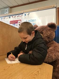 Colliyn Retz, Kindergartener with friend - Uploaded by Jen DaParma