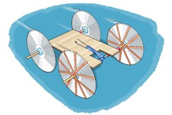 Rubber band, balloon, or momentum powered cars will be designed, decorated and cheered! - Uploaded by SCRAP Education
