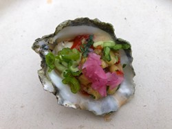 PHOTO BY JENNIFER FUMIKO CAHILL. - Fregoso's Comida Mexicana's winning raw oyster.