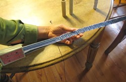 Strap weaving with playing cards - Uploaded by Katy Warner