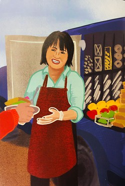 GIRL ACTIVIST - Betty Chinn as drawn by Georgia Rucker.