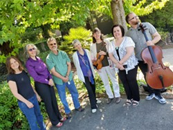 Welcome Concert performers will include HSU Music Faculty members (from left to right) Rachel Samet, Jennifer Trowbridge, Paul Cummings, Karen Davy, Cindy Moyer, Daniela Mineva, and Garrick Woods. - Uploaded by fredbaby