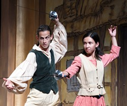 KRISTI PATTERSON - Evan Grande and Camille Borrowdale in Ken Ludwig's Three Musketeers 3