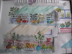 LOUISE BACON-OGDEN - 3228  Athens' balconies