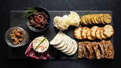AMY KUMLER - The Fromage platter of cheeses with fig tapenade and spiced nuts.