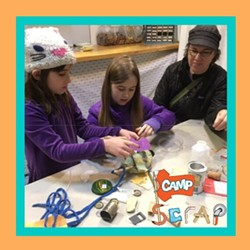 Campers will learn to innovate and exercise their problem solving skills by learning about creative reuse at Camp SCRAP: Winter Wonderland! - Uploaded by Education SCRAP Humboldt