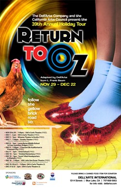 Return to Oz Annual Holiday Poster - Uploaded by Dell'Arte Public Relations