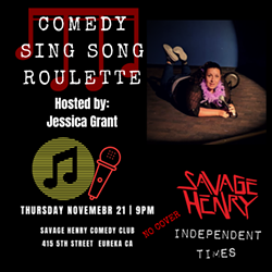 Jessica Grant Hosts Comedy Sing Song Roulette - Uploaded by Calista La Bolle