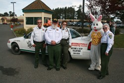SCOP and the Easter Bunny at the 2013 McKinleyville Shopping Center Easter Egg Hunt - Uploaded by Taffy Stockton