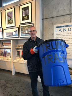 "SUBMITTED - A vociferous critic of Donald Trump from the first days of his presidency, North Coast Congressman Jared Huffman spent part of the recent federal government shutdown picking up ""Trump trash"" in a national park in his district."