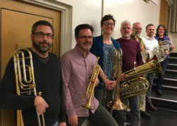 Members of the North Coast Brass Ensemble. Photo by Ernest Ansermet