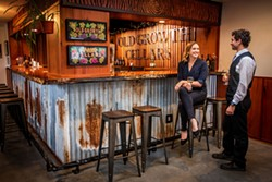 AMY KUMLER - The bar at Old Growth Cellars' tasting room.