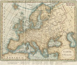 VIA WIKIMEDIA COMMONS, PUBLIC DOMAIN - Robert Janvier's 1794 map of Europe.