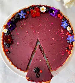 PHOTO BY WENDY CHAN - Summer romance in the form of a blackberry rose tart.