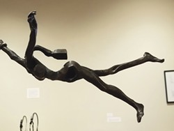 """PHOTO BY GABRIELLE GOPINATH - Monica Coyne's 2020 """"Hold on,"""" recycled mild steel."""