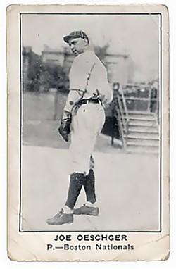 WIKIMEDIA COMMONS - Joe Oeschger's 1922 Boston Nationals baseball card.