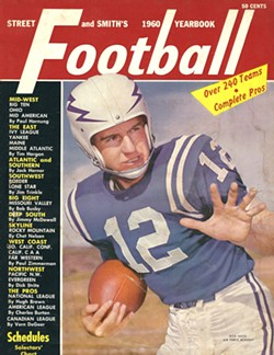 COURTESY OF FRED WHITMIRE - Rich Mayo on the cover of the 1960 Football Yearbook in his Air Force Academy uniform.