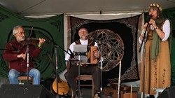 PHOTO BY CHUCK FINNEY-KRULL - Good Company playing pre-pandemic at the Medieval Festival of Courage.